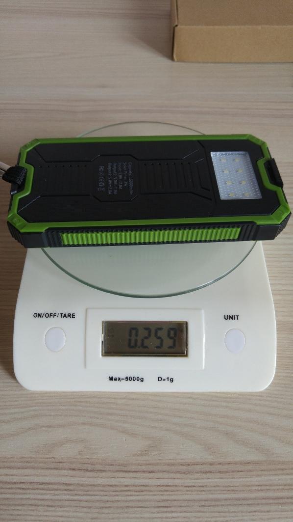 La mia recensione Caricatore solare, Levin® Caricabatterie Solare da 15000mAh con 8 LED Torcia