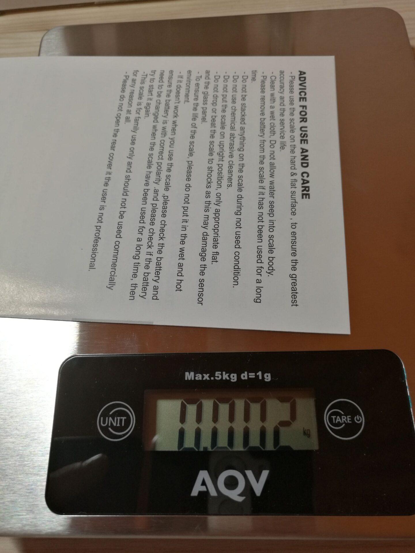 La mia recensione Bilancia da cucina AQV