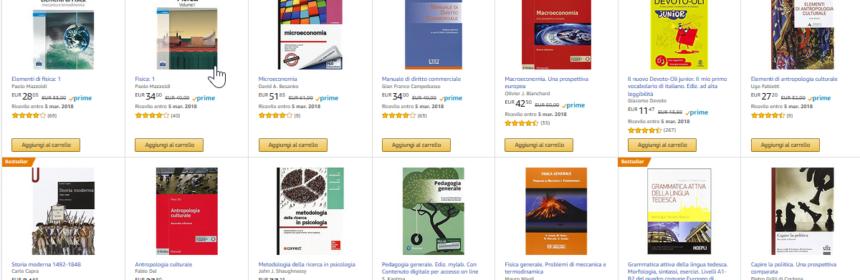 libri universitari amazon