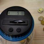 Il salvadanaio che conta le monete in automatico esiste e costa poco !!